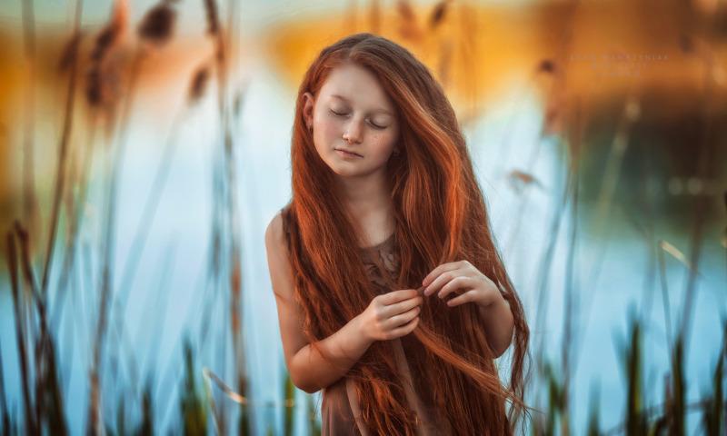 девочка река