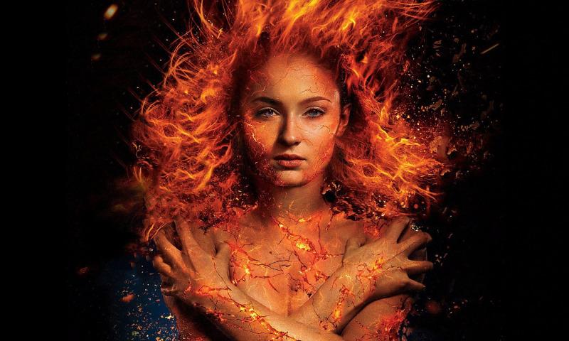 огонь девушка