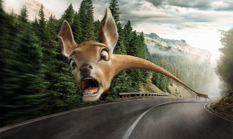 панический олень