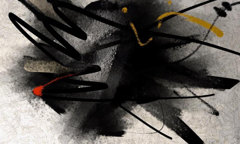 абстракция черный