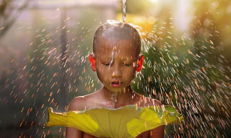 дождь ребенок