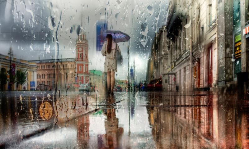 город дождь