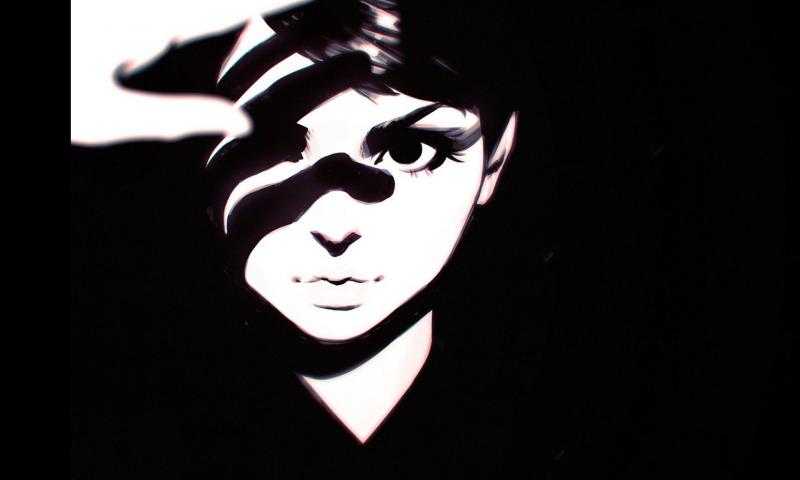 тень девушка