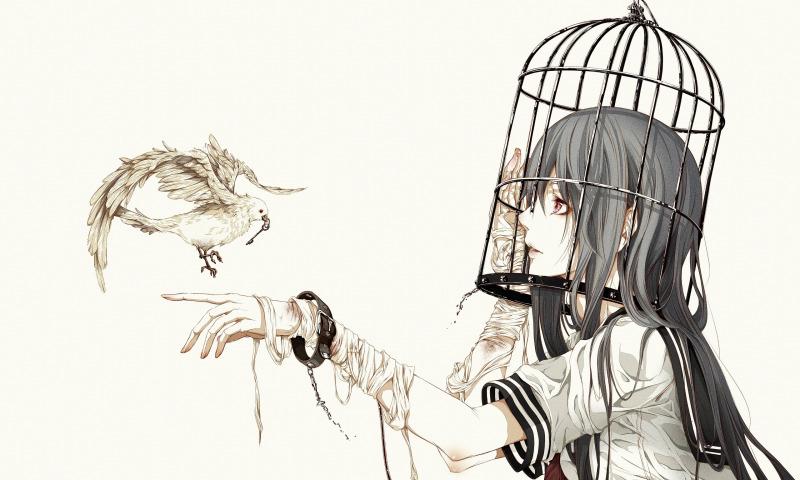 птица клетка