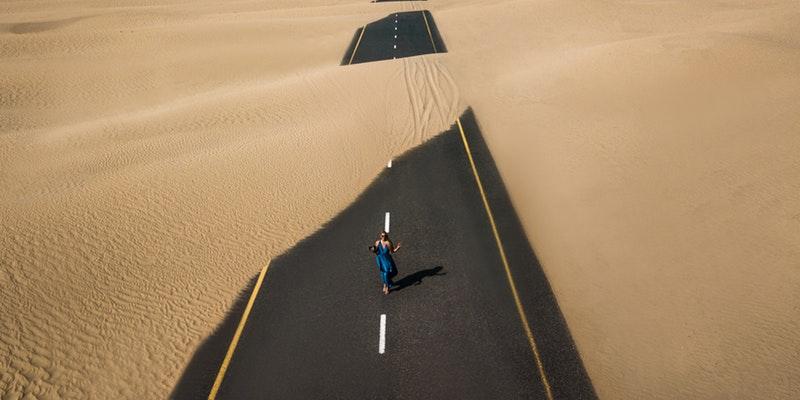 пустыня дорога