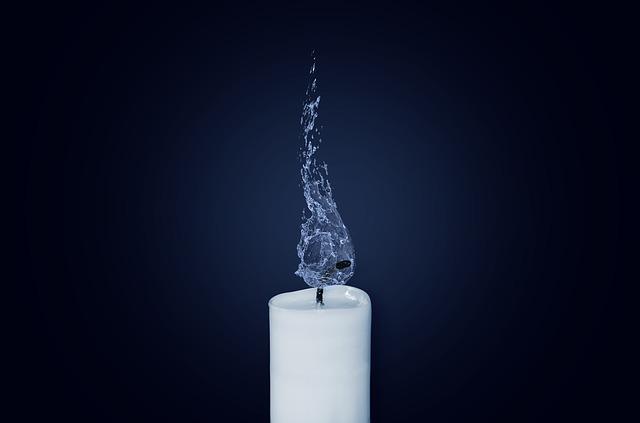 свеча вода
