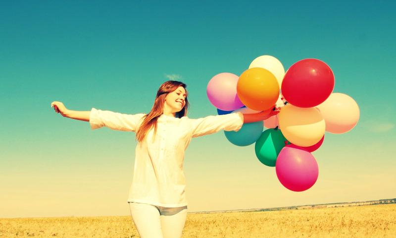 женщина радость
