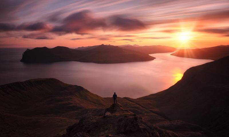 пейзаж закат