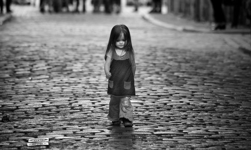 улица девочка