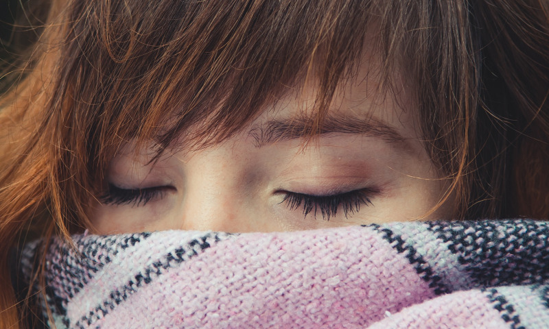 шарф глаза