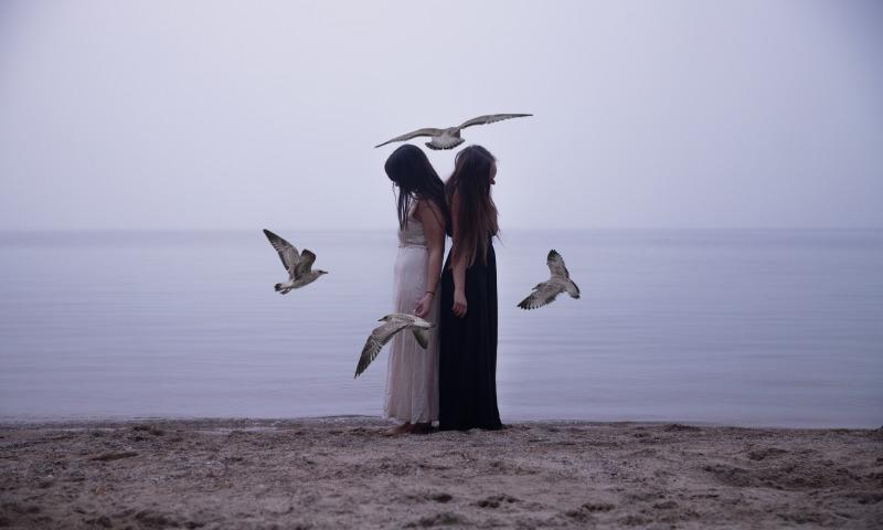 девушки птицы