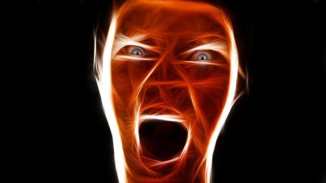 лицо крик